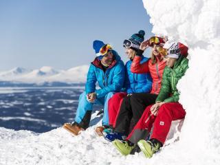 Учимся управлять горными лыжам